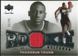 2007/08 Upper Deck Sweet Shot Rookie Stitches #TY Thaddeus Young 55/99
