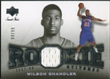 2007/08 Upper Deck Sweet Shot Rookie Stitches #WC Wilson Chandler /99