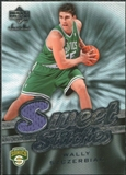 2007/08 Upper Deck Sweet Shot Sweet Stitches #WS Wally Szczerbiak