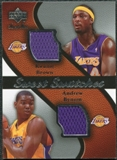 2007/08 Upper Deck Sweet Shot Sweet Swatches Dual #BB Kwame Brown Andrew Bynum