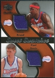 2007/08 Upper Deck Sweet Shot Sweet Swatches Dual #BD Elton Brand Paul Davis
