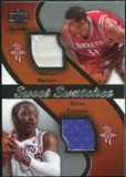 2007/08 Upper Deck Sweet Shot Sweet Swatches Dual #FB Shane Battier Steve Francis