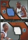 2007/08 Upper Deck Sweet Shot Sweet Swatches Dual #GH Devean George Devin Harris