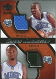 2007/08 Upper Deck Sweet Shot Sweet Swatches Dual #LH Dwight Howard Rashard Lewis