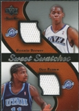 2007/08 Upper Deck Sweet Shot Sweet Swatches Dual #RD Ronnie Brewer Dee Brown