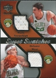 2007/08 Upper Deck Sweet Shot Sweet Swatches Dual #SW Wally Szczerbiak/Delonte West