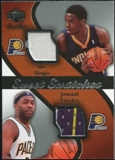 2007/08 Upper Deck Sweet Shot Sweet Swatches Dual #TD Ike Diogu Jamaal Tinsley