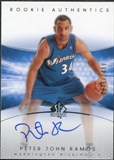 2004/05 Upper Deck SP Authentic #156 Peter John Ramos Autograph /1499
