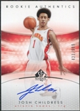 2004/05 Upper Deck SP Authentic #182 Josh Childress RC Autograph /999