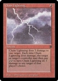 Magic the Gathering Legends Single Chain Lightning MODERATE PLAY (VG/EX)