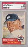1953 Topps Baseball #82 Mickey Mantle PSA 5 (EX) (MK) *8763