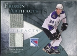 2010/11 Upper Deck Artifacts Frozen Artifacts Jersey Patch Blue #FAAF Alexander Frolov /50