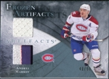 2010/11 Upper Deck Artifacts Frozen Artifacts Jersey Patch Blue #FAAM Andrei Markov /50
