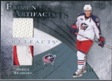 2010/11 Upper Deck Artifacts Frozen Artifacts Jersey Patch Blue #FABR Derick Brassard /50