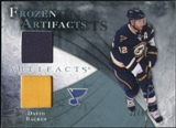 2010/11 Upper Deck Artifacts Frozen Artifacts Jersey Patch Blue #FADB David Backes /50