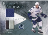 2010/11 Upper Deck Artifacts Frozen Artifacts Jersey Patch Blue #FAHS Henrik Sedin /50