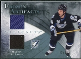 2010/11 Upper Deck Artifacts Frozen Artifacts Jersey Patch Blue #FAMS Martin St. Louis /50