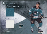 2010/11 Upper Deck Artifacts Frozen Artifacts Jersey Patch Blue #FAPM Patrick Marleau /50