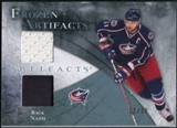 2010/11 Upper Deck Artifacts Frozen Artifacts Jersey Patch Blue #FARN Rick Nash /50