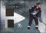 2010/11 Upper Deck Artifacts Frozen Artifacts Jersey Patch Blue #FAVL Vincent Lecavalier /50