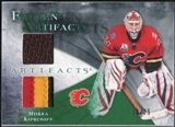 2010/11 Upper Deck Artifacts Frozen Artifacts Jersey Patch Emerald #FAMK Miikka Kiprusoff /25
