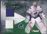 2010/11 Upper Deck Artifacts Frozen Artifacts Jersey Patch Emerald #FARL Roberto Luongo /25
