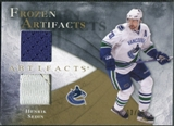 2010/11 Upper Deck Artifacts Frozen Artifacts Jersey Patch Gold #FAHS Henrik Sedin /15