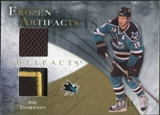 2010/11 Upper Deck Artifacts Frozen Artifacts Jersey Patch Gold #FAJT Joe Thornton 11/15