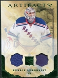 2010/11 Upper Deck Artifacts Jerseys Patches Emerald #2 Henrik Lundqvist /50