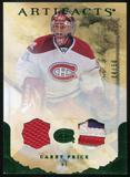 2010/11 Upper Deck Artifacts Jerseys Patches Emerald #7 Carey Price 4/50
