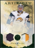 2010/11 Upper Deck Artifacts Jerseys Patches Emerald #11 Ryan Miller /50