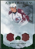 2010/11 Upper Deck Artifacts Jerseys Patches Emerald #16 Matt Duchene /50