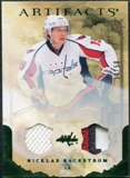 2010/11 Upper Deck Artifacts Jerseys Patches Emerald #17 Nicklas Backstrom /50