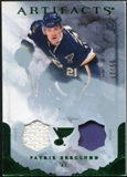 2010/11 Upper Deck Artifacts Jerseys Patches Emerald #29 Patrik Berglund /50