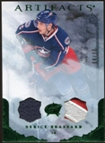 2010/11 Upper Deck Artifacts Jerseys Patches Emerald #34 Derick Brassard 4/50