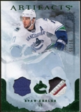 2010/11 Upper Deck Artifacts Jerseys Patches Emerald #40 Ryan Kesler /50