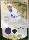 2010/11 Upper Deck Artifacts Jerseys Patches Emerald #47 Dion Phaneuf /50