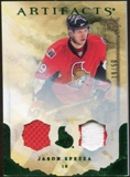 2010/11 Upper Deck Artifacts Jerseys Patches Emerald #50 Jason Spezza 19/50
