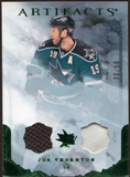 2010/11 Upper Deck Artifacts Jerseys Patches Emerald #64 Joe Thornton /50