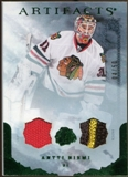 2010/11 Upper Deck Artifacts Jerseys Patches Emerald #75 Antti Niemi /50