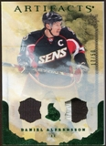 2010/11 Upper Deck Artifacts Jerseys Patches Emerald #77 Daniel Alfredsson /50
