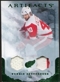 2010/11 Upper Deck Artifacts Jerseys Patches Emerald #99 Henrik Zetterberg 4/50