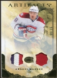 2010/11 Upper Deck Artifacts Jerseys Patches Gold #31 Andrei Markov 8/15