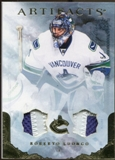 2010/11 Upper Deck Artifacts Jerseys Patches Gold #61 Roberto Luongo 4/15