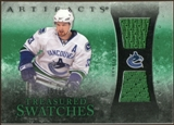 2010/11 Upper Deck Artifacts Treasured Swatches Emerald #TSHS Henrik Sedin /15