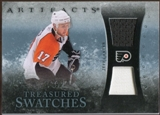 2010/11 Upper Deck Artifacts Treasured Swatches Jersey Patch Blue #TSJC Jeff Carter /50