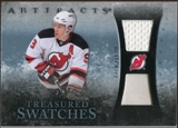 2010/11 Upper Deck Artifacts Treasured Swatches Jersey Patch Blue #TSZP Zach Parise /50
