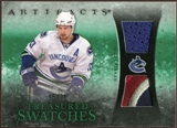 2010/11 Upper Deck Artifacts Treasured Swatches Jersey Patch Emerald #TSHS Henrik Sedin 5/25