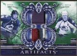 2010/11 Upper Deck Artifacts Tundra Tandems Patches Emerald #TT2COLO Darcy Tucker/Adam Foote 12/40