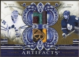 2010/11 Upper Deck Artifacts Tundra Tandems Patches Gold #TT2LEAFS Jean-Sebastien Giguere/Phil Kessel 12/15